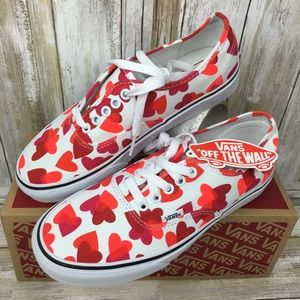 💕💕Vans Authentic Valentines hearts W Sneakers❤️